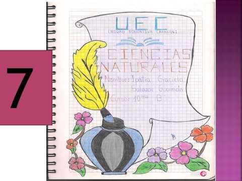 11 Hermosas y creativas carátulas para cuadernos  (2)