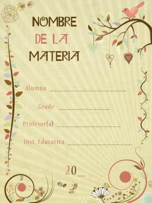 10 Carátulas para cuadernos en pergaminos (8)