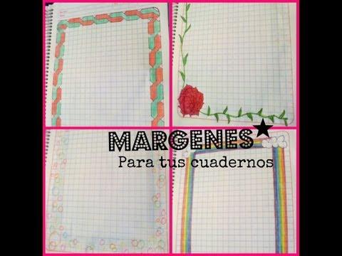 9 Ideas bonitas para realizar carátulas para cuadernos a mano (3)