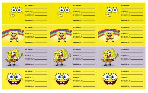 Caratulas para Cuadernos de Bob Esponja (6)