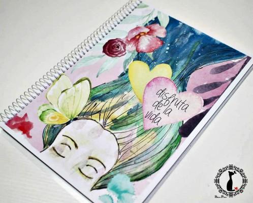 6 caratulas para cuadernos rom ntico car tulas para cuadernos - Decorar album de fotos por dentro ...