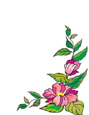 10 carátulas para cuadernos con flores (4)